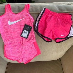 Nike Romper and Athletic Shorts 3T
